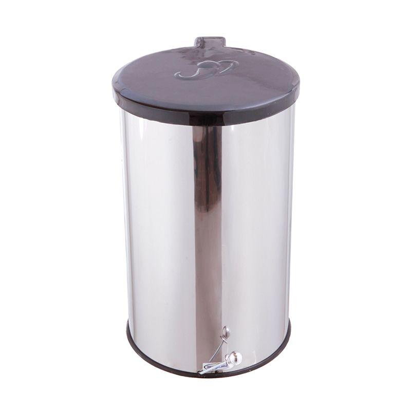 Lixeira Inox Redonda com Pedal 30 Litros - Metalsuga