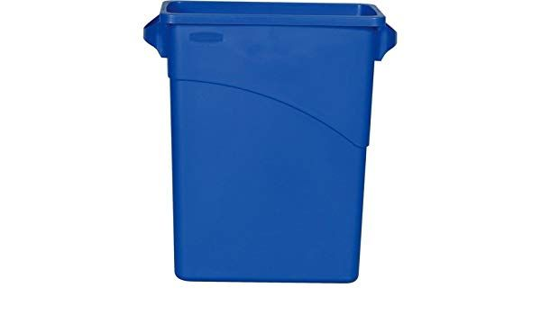 Lixeira Recipiente Slim Jim 60L - Azul - FG354100DBLUE - Rubbermaid