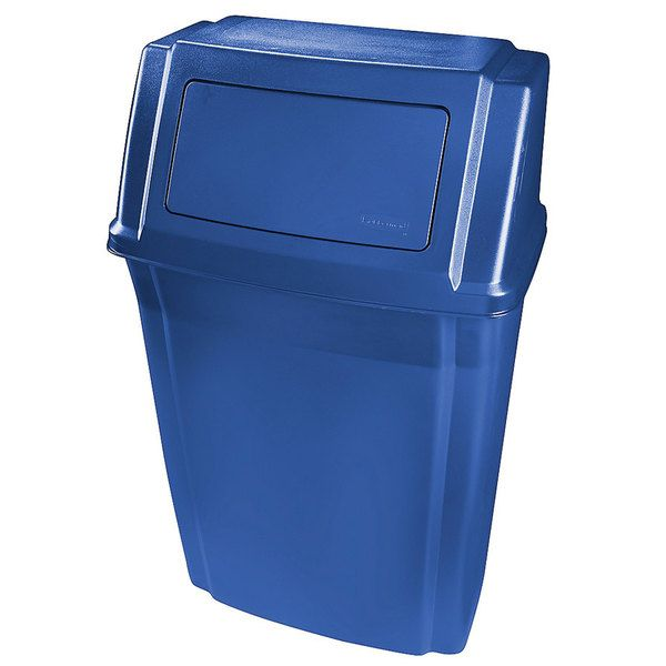 Lixeira Recipiente Slim Jim Paredes  57L - Azul - 1829401 - Rubbermaid