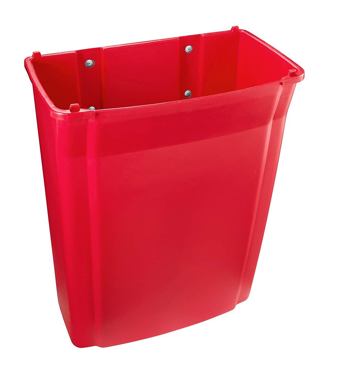 Lixeira Recipiente Slim Jim Paredes  57L - Vermelho - 1829402 - Rubbermaid