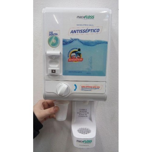 Machfloss Evolution 3X1 - Dispenser de Fio Dental + Enxaguante Bucal + Porta Copos