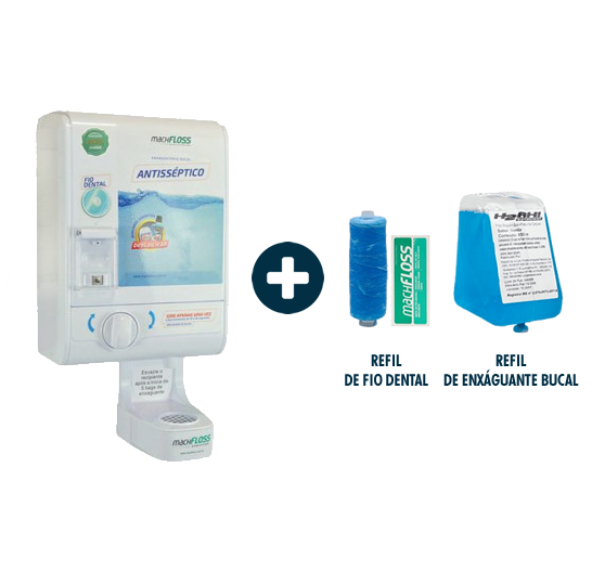 Machfloss Evolution 3X1 - Dispenser de Fio Dental + Enxaguante Bucal