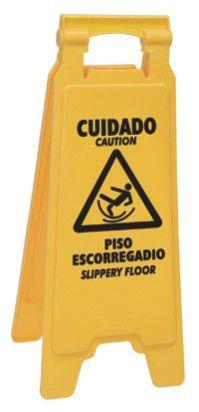 Placa sinalizadora: Cuidado piso escorregadio - 111802 - ref. 1705 - Rubbermaid