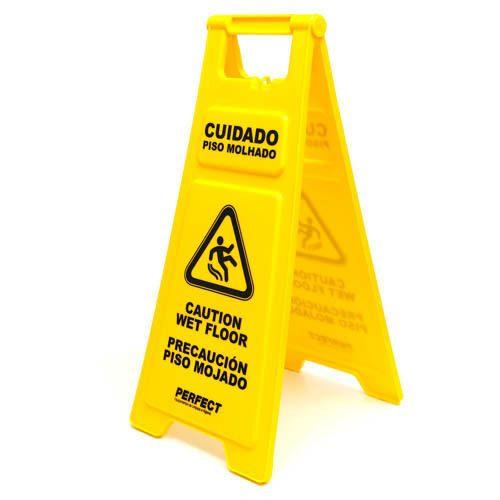 Placa sinalizadora Cuidado piso molhado - 380056 - Perfect