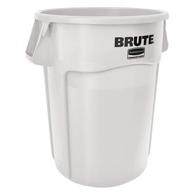 Recipiente Brute com Canais de Ventilação 75L Branco - Rubbermaid