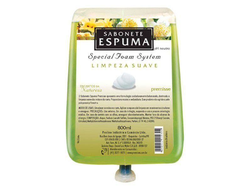 Sabonete Espuma Encantos da Natureza 700ml (caixa c/ 6)  - Premisse - C10200