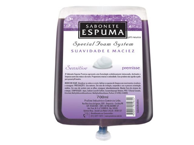 Sabonete Espuma Sensitive 700ml (caixa c/ 6) - Premisse C10202