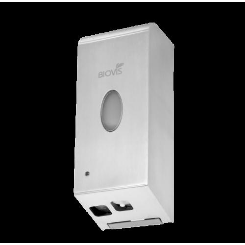 Saboneteira Automática p/ Sabonete Espuma em Aço Inox Escovado com sensor - 900ml - Biovis