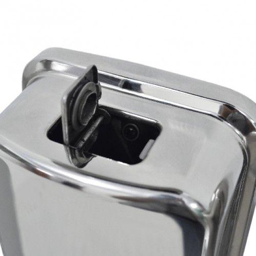 Dispenser sabonete Líquido ou Álcool Gel em Aço Inox Polido 500ml Biovis Linha Visium 1011