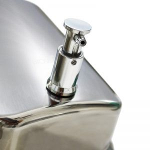 Saboneteira em Aço Inox Escovado Noble 800ml - Biovis