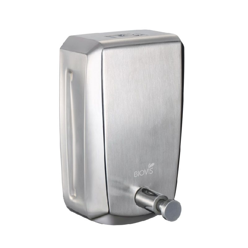 Dispenser Sabonete Líquido Aço Inox Escovado 800ml - Biovis Linha Noble 1016