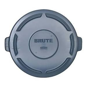 Tampa Brute 166 Lts Plana Cinza - FG264560GRAY - Rubbermaid