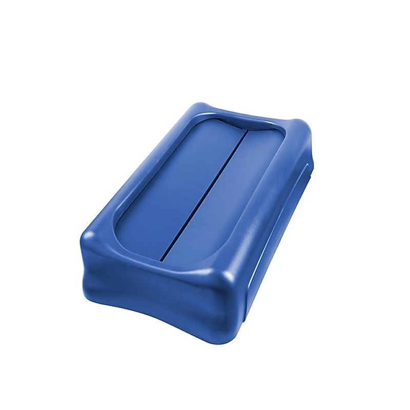 Tampa Untouchable para Lixeira Slim Jim 60L - Azul - FG267360BLUE - Rubbermaid