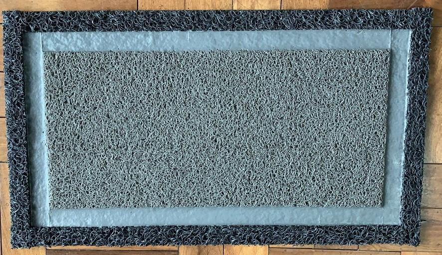 Tapete Higienizador Sanitizante em VINIL - GRANDE c/ borda DUPLA - 1,20 cm X 0,60 cm
