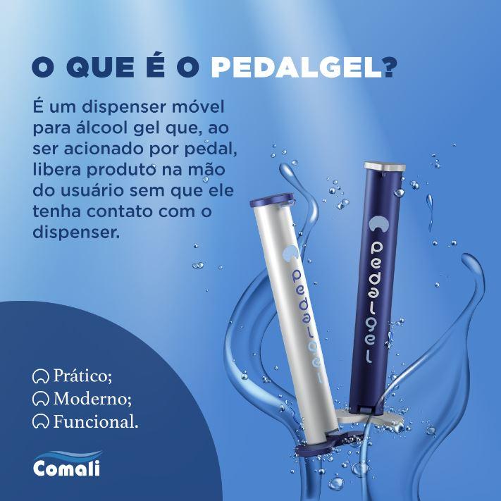 Totem Higienizador - Dispenser de Álcool em Gel - Pedalgel