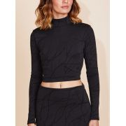 CROPPED GOLA BLACK NANQUIM
