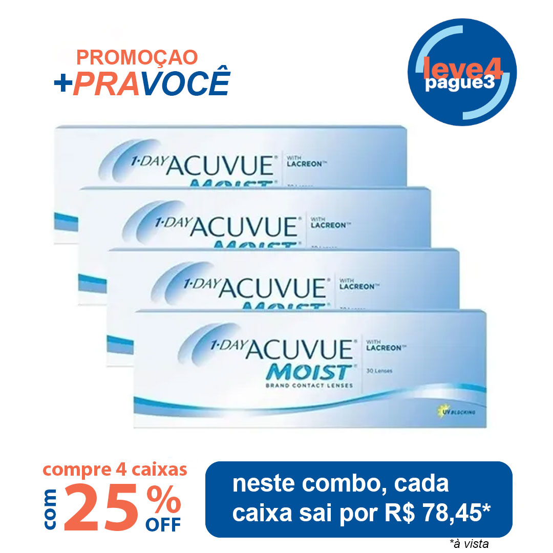 1-day Acuvue Moist Leve 4 pague 3