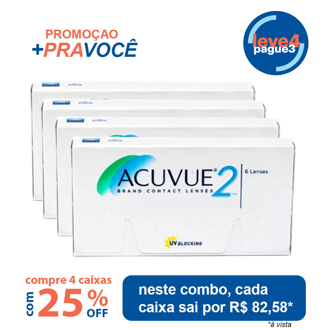 Acuvue2 Leve 4 pague 3