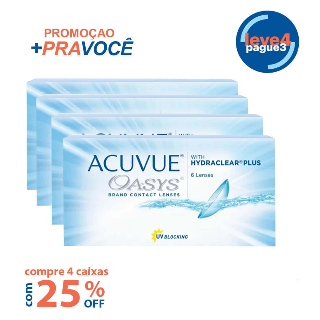 Acuvue Oasys Com Hydraclear Plus  Leve 4 pague 3