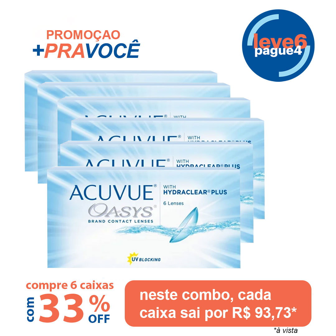 Acuvue Oasys Com Hydraclear Plus Leve 6 pague 4