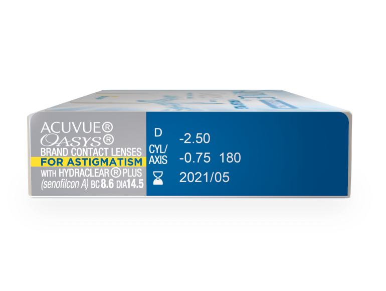 Acuvue Oasys para Astigmatismo com Hydraclear Plus Leve 4 pague 3