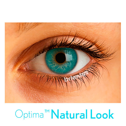 Lente Colorida Optima Natural Look - Com Grau | 01 unidade