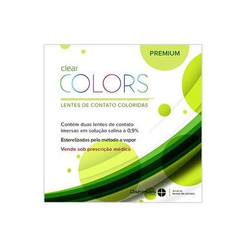 Lentes de contato Clear Colors Premium descartável