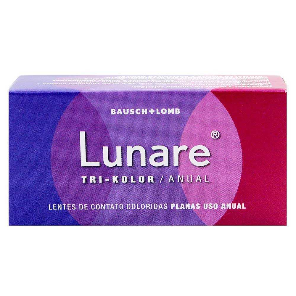 Lentes de Contato Colorida Lunare Tri-Kolor Anual Sem Grau