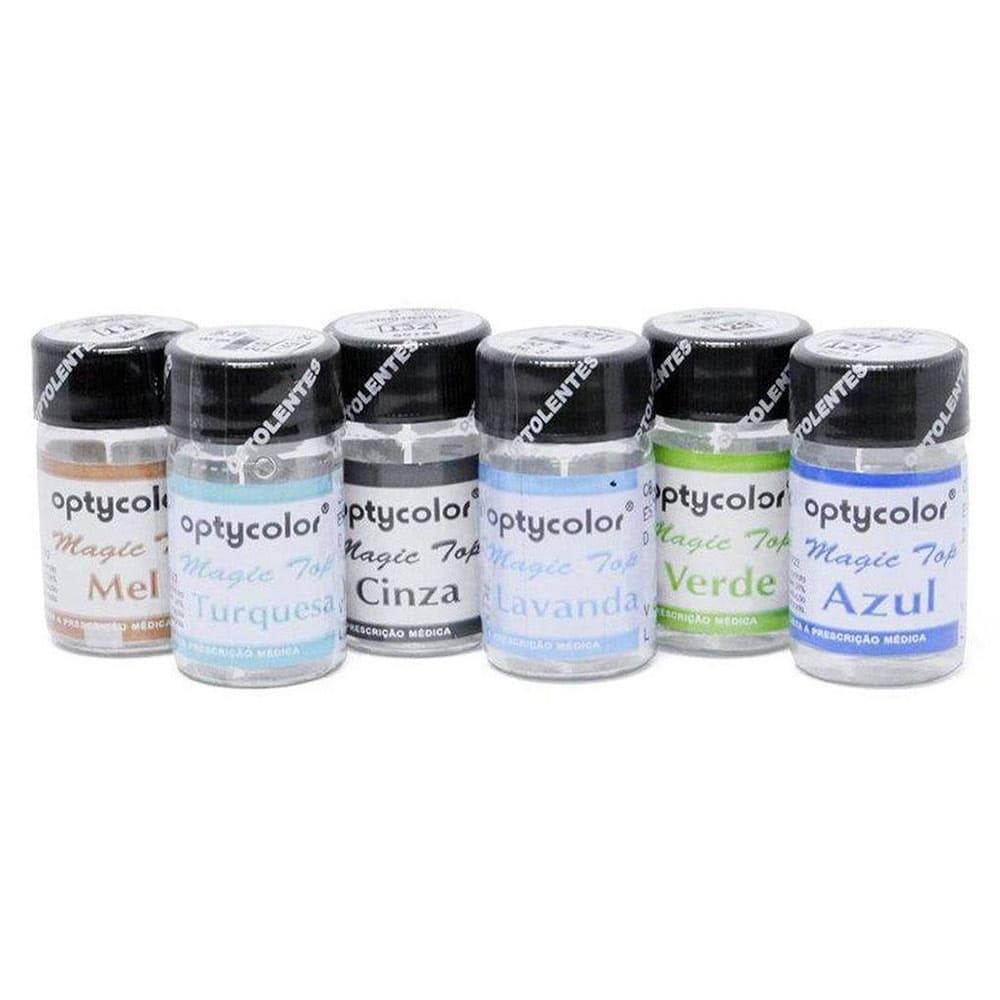 Lentes de Contato Coloridas Magic Top(1 Unidade (Graus Altos)