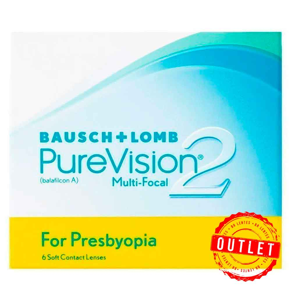 Lentes de Contato Purevision 2 Multifocal - Outlet
