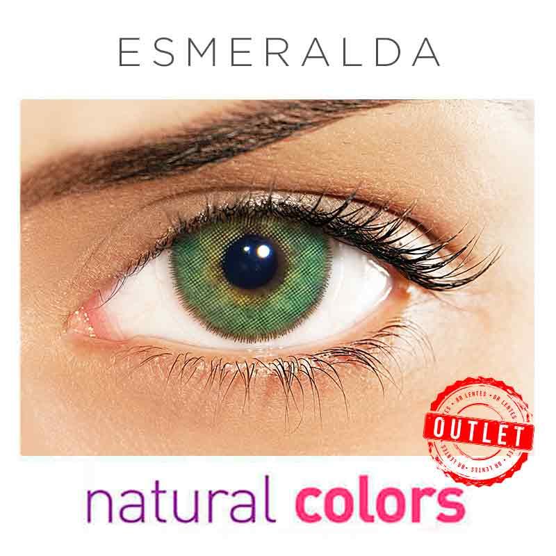 Lentes de Contato Solótica Natural Colors  Esmeralda (Com Grau | 01 unidade) -Outlet