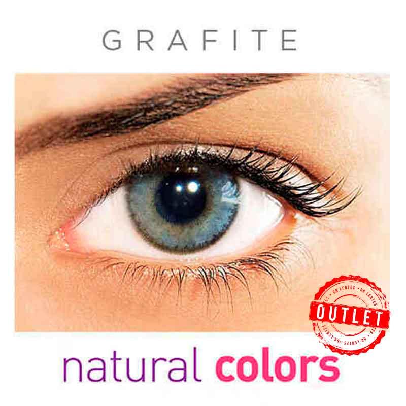 Lentes de Contato Solótica Natural Colors  Grafite (Com Grau | 01 unidade) -Outlet