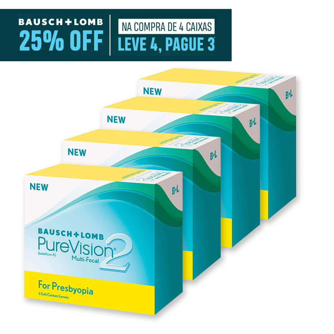 Purevision2 Multifocal - Leve 4, pague 3