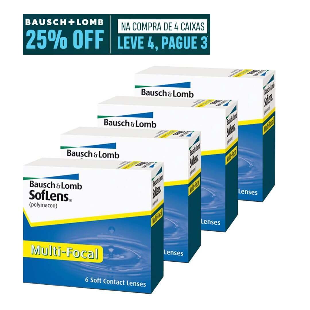 Soflens Multifocal - Leve 4, pague 3