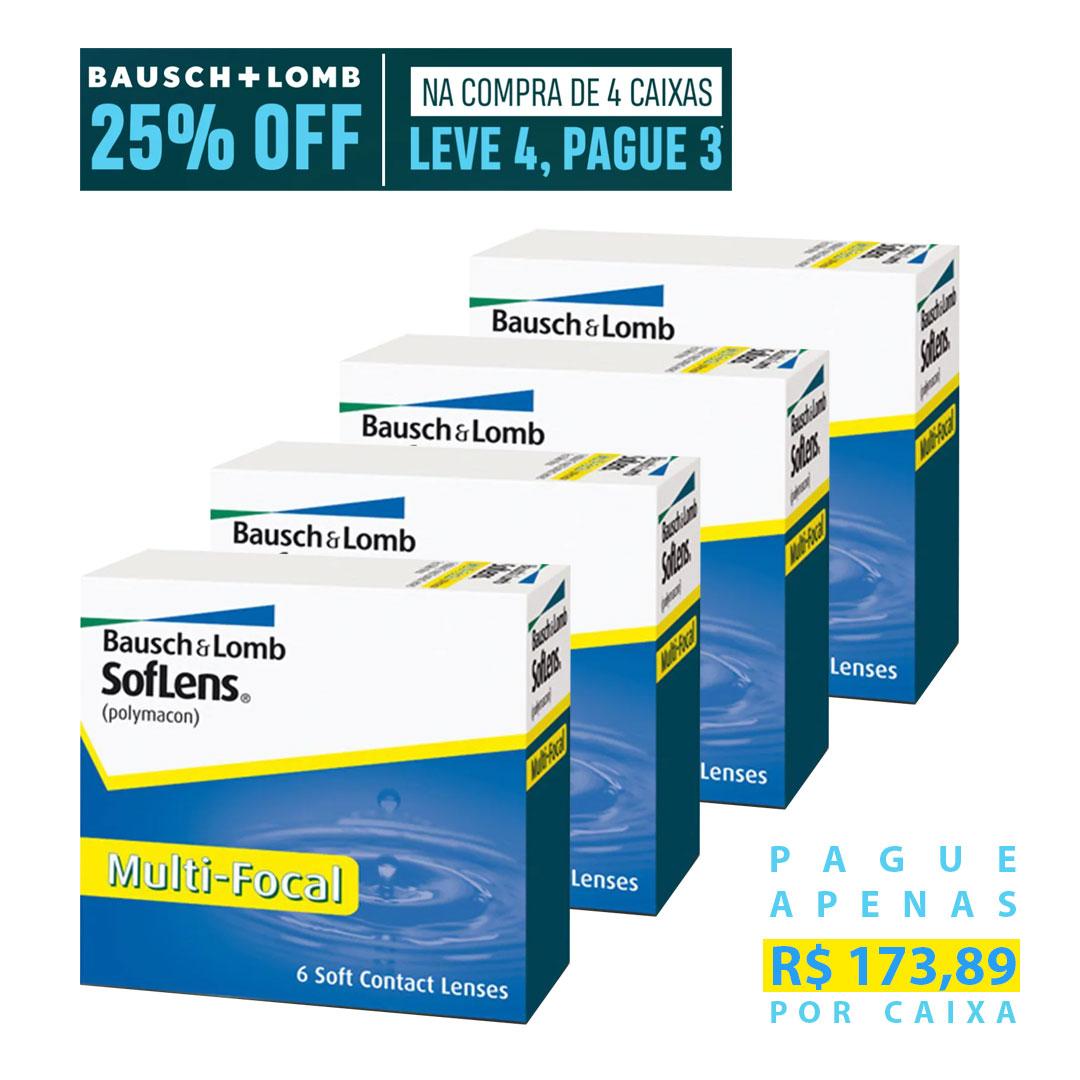 Soflens Multifocal - Leve 4, pague 3