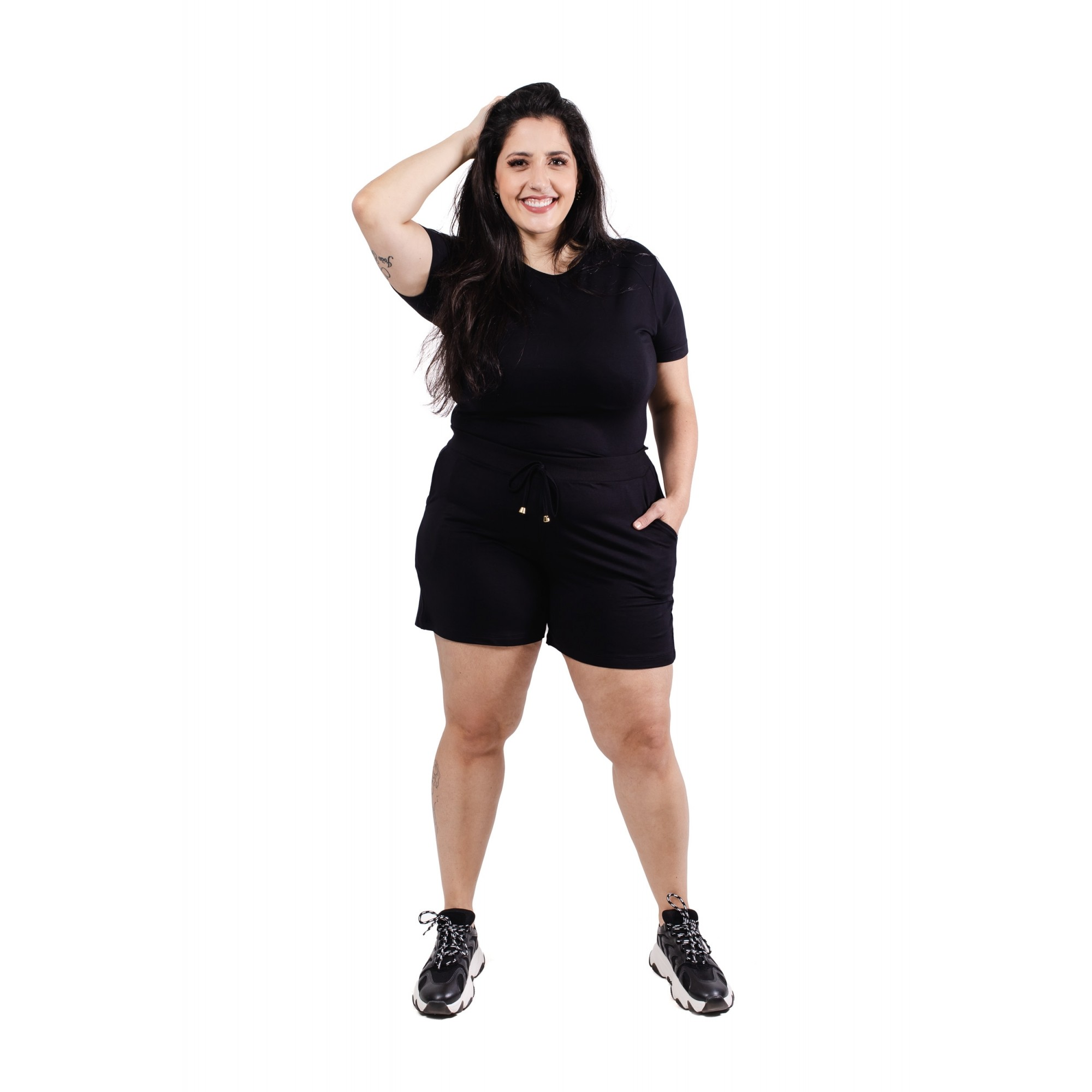 Blusa Básica Feminina Plus Size