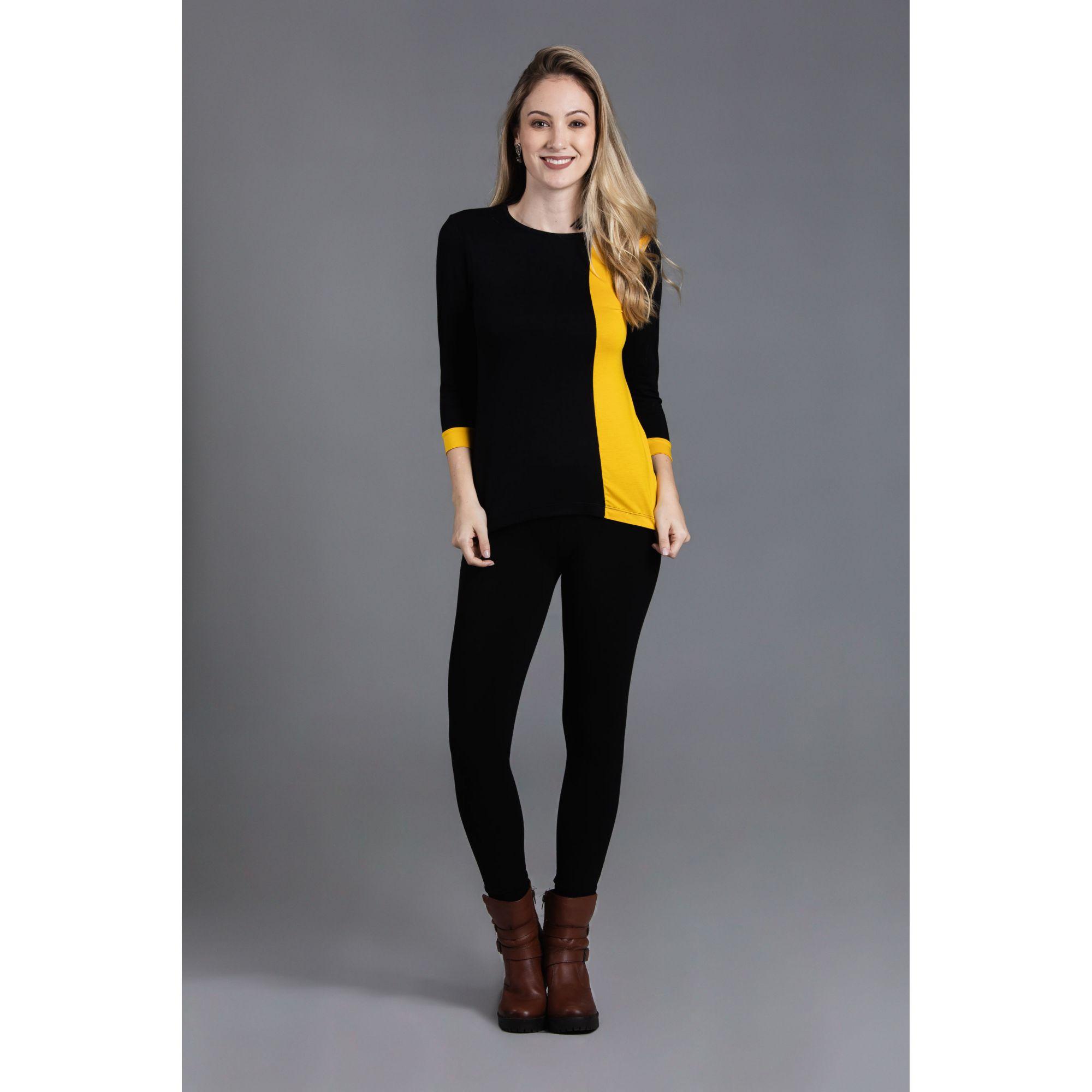 Blusa Faixa Vertical Plus Size