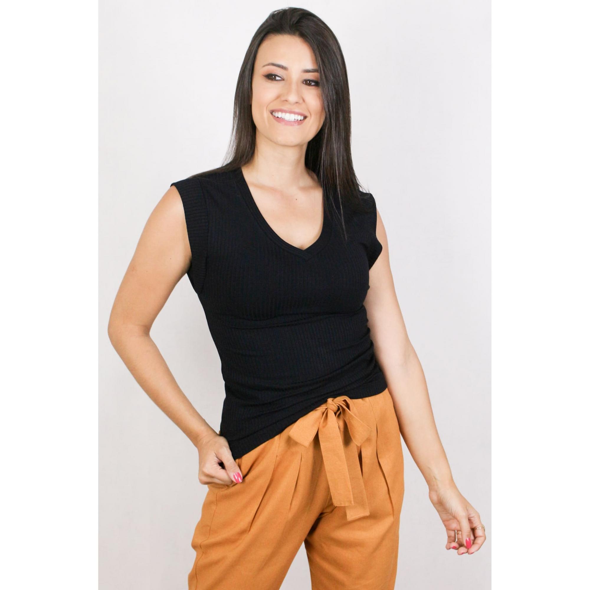Blusa Feminina Básica Canelada