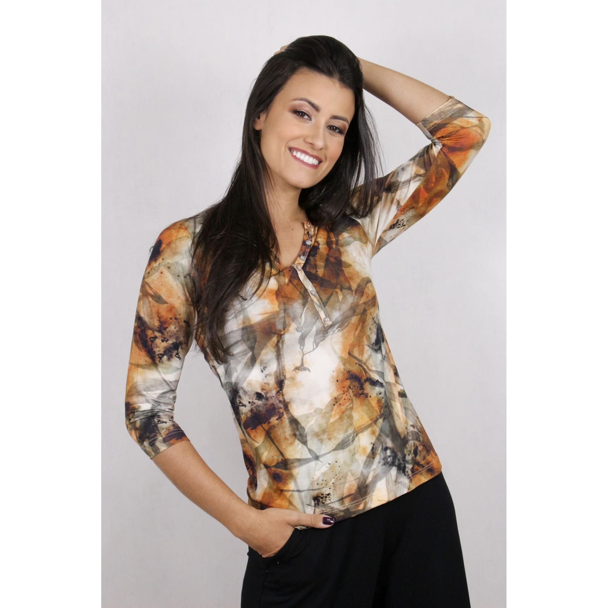 Blusa Feminina com Estampa Digital