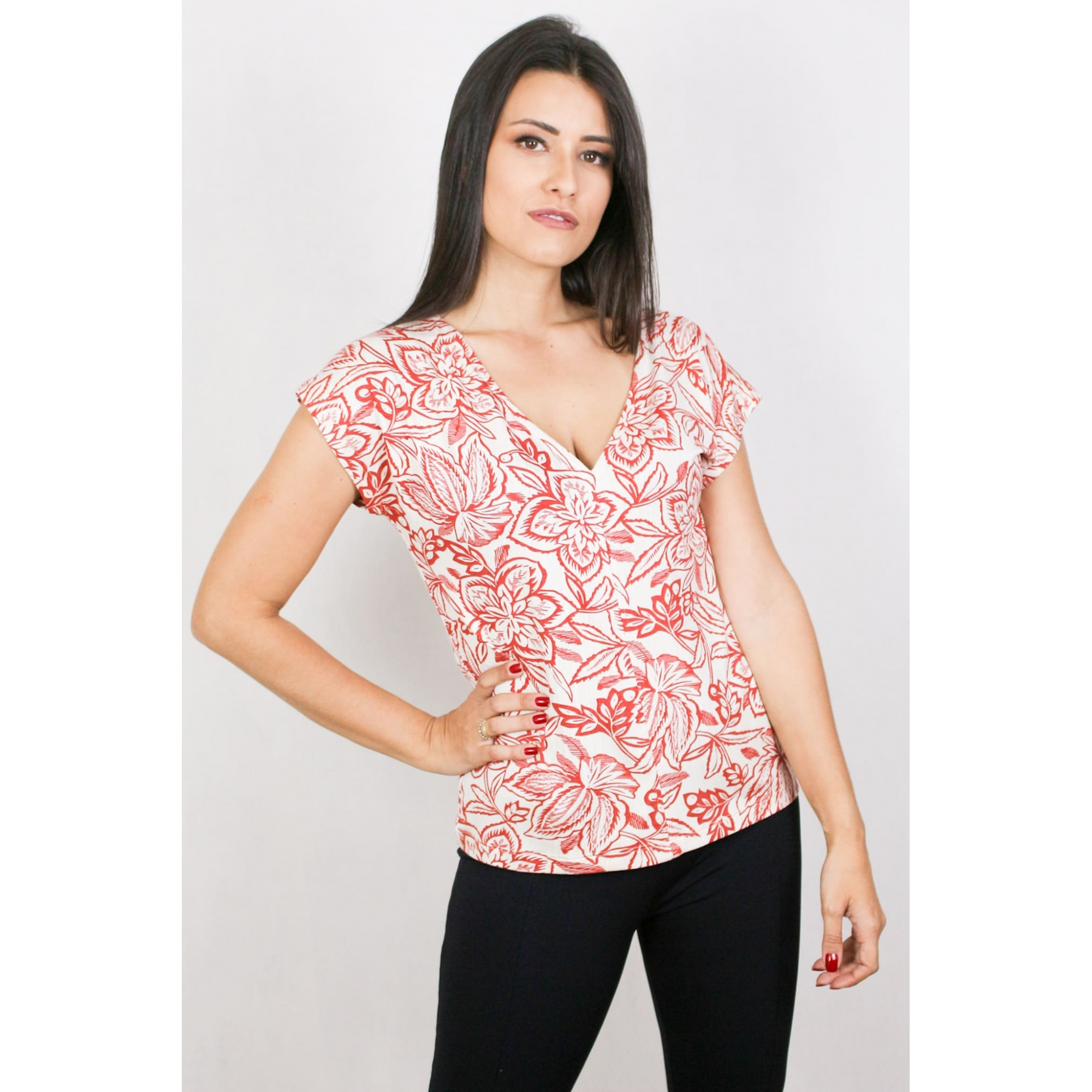 Blusa Feminina Estampada Floral