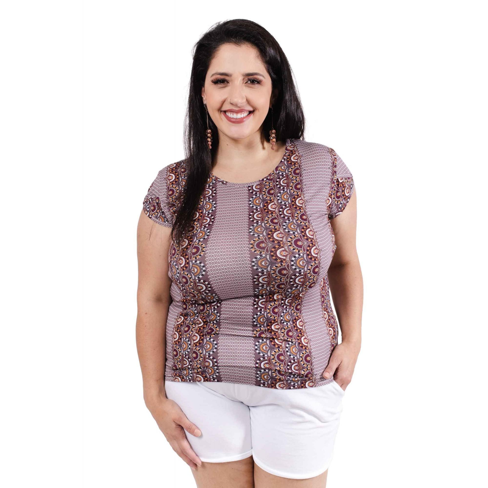 Blusa Feminina Estampada Plus Size