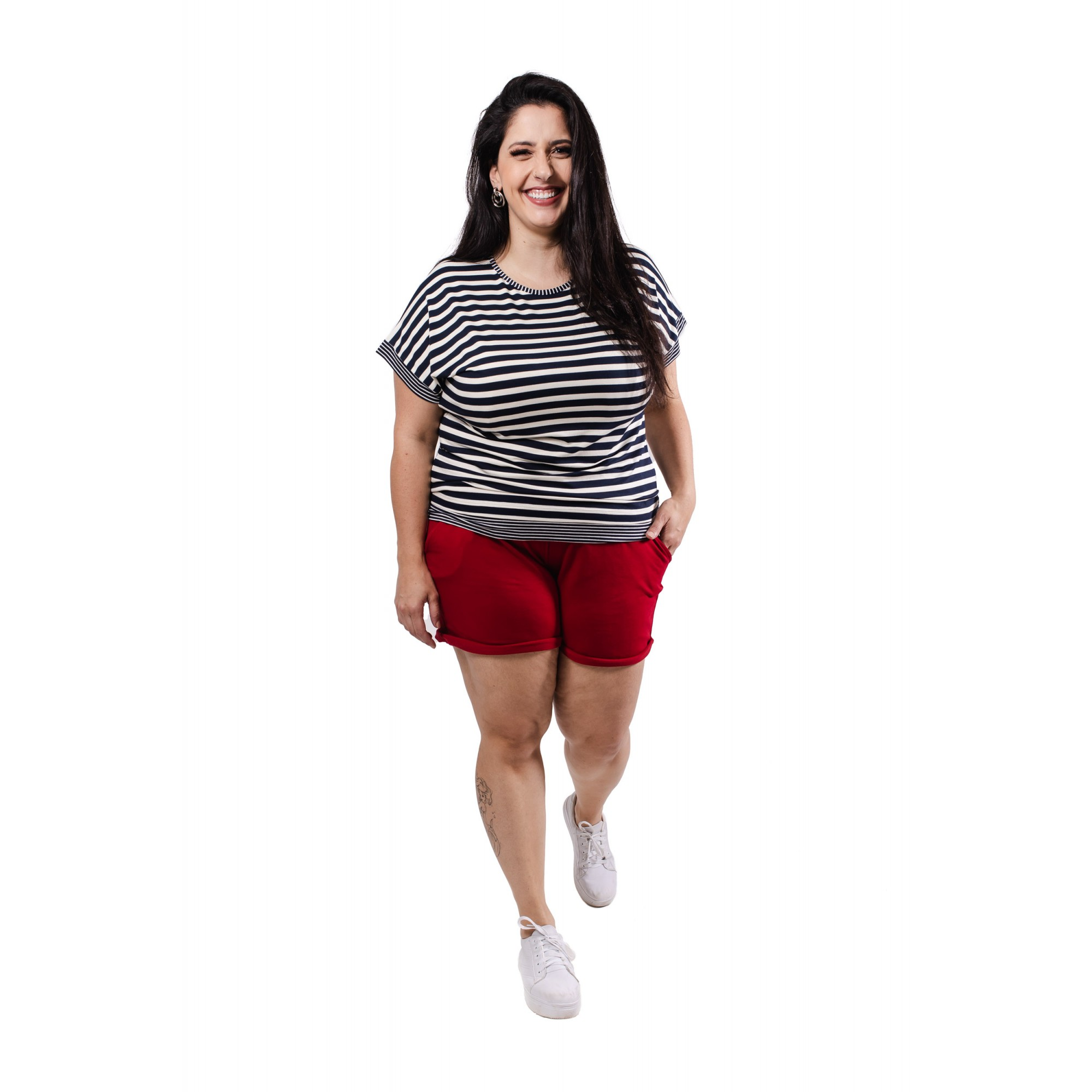 Blusa Feminina Listrada Plus Size