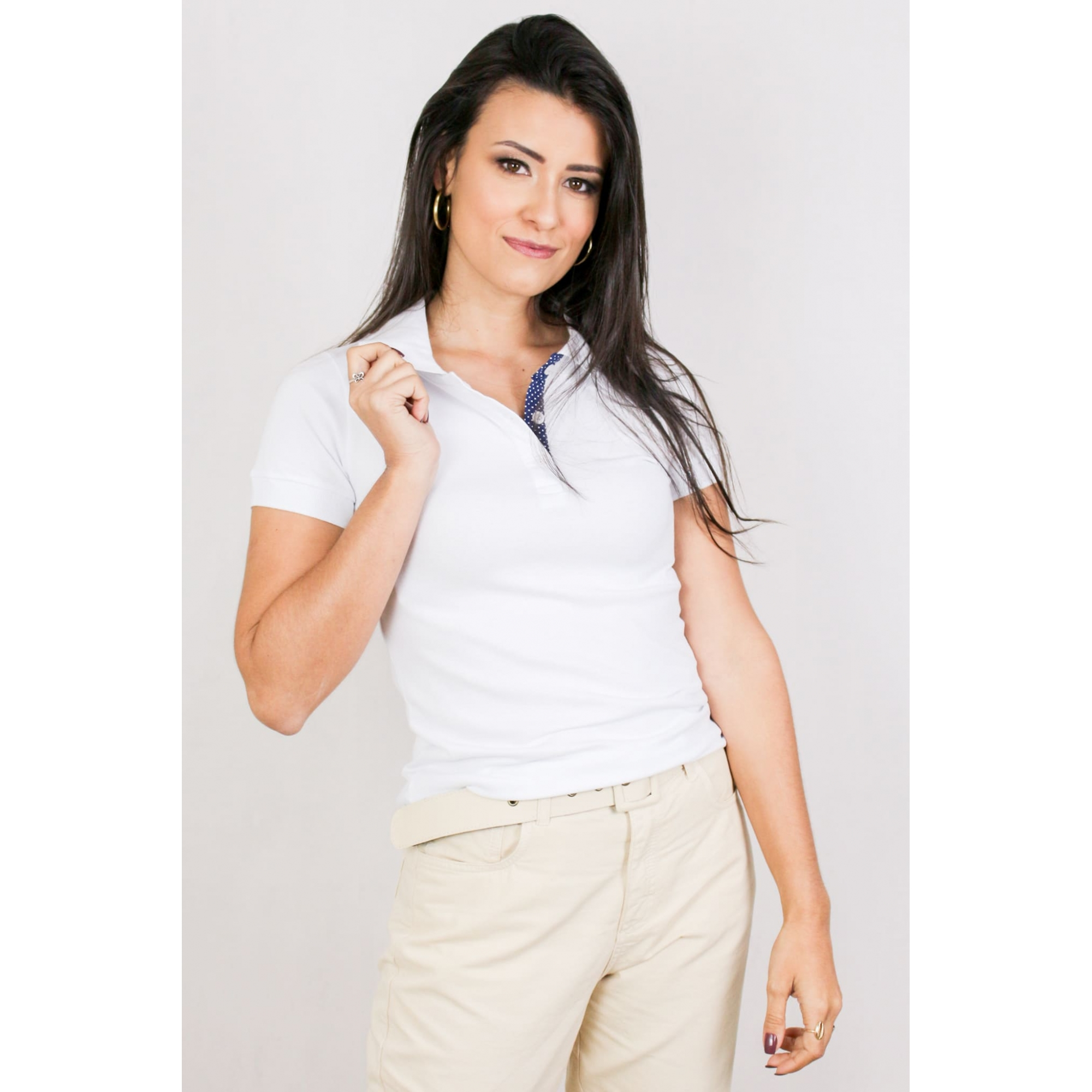Blusa Polo Feminina Malha Piquet