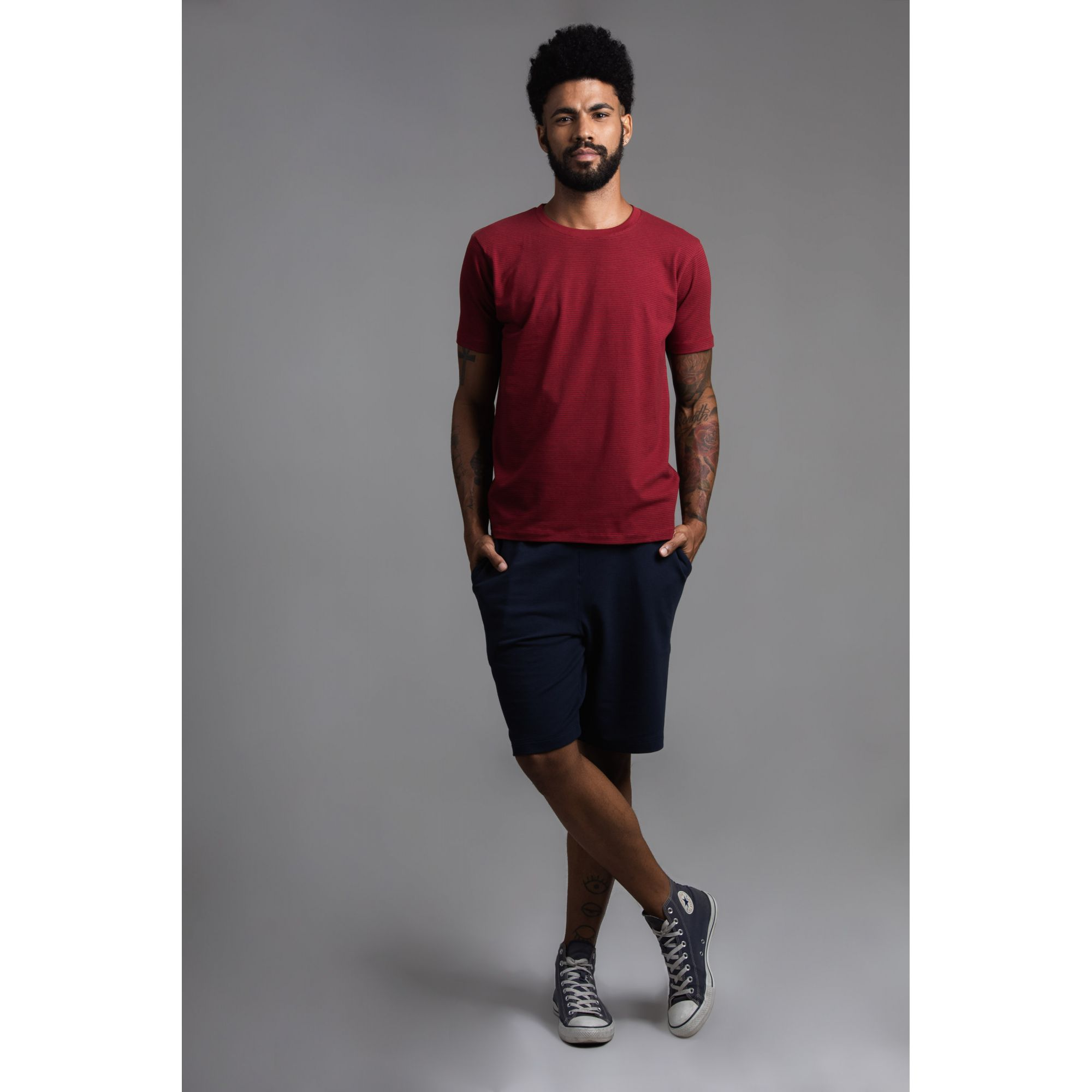 Camisa Masculina Básica Manga Curta