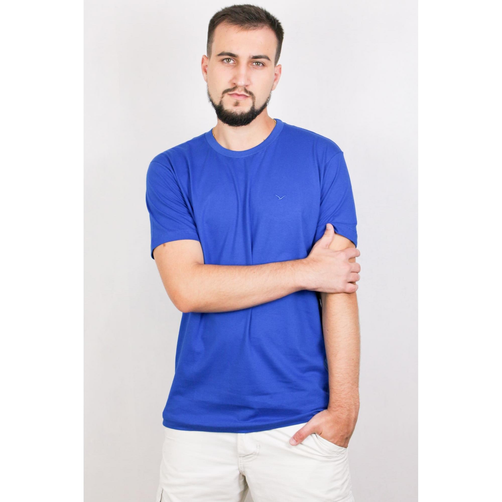 Camisa Masculina Manga Curta Básica