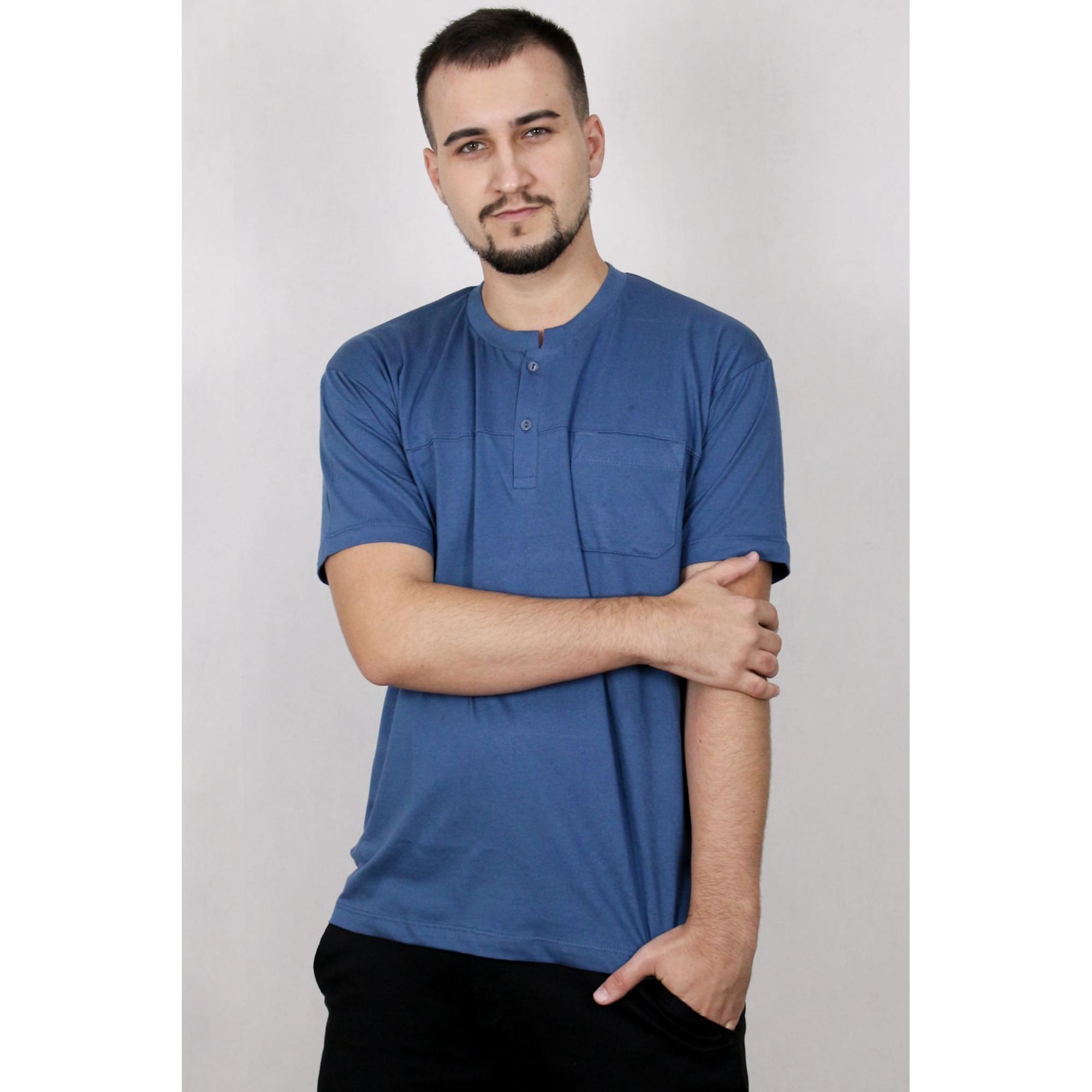 Camisa Masculina Manga Curta Com Botões