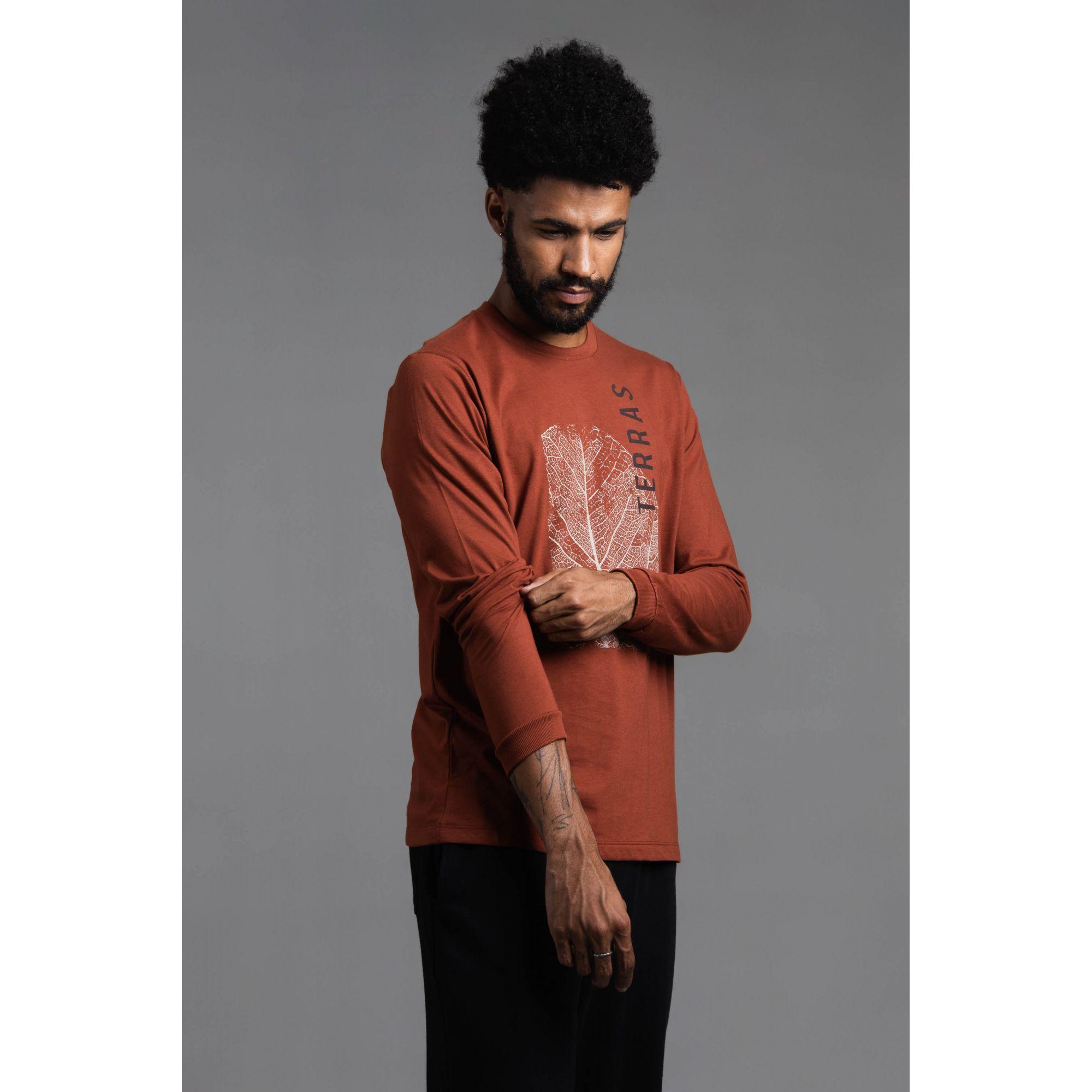 Camisa Masculina Manga Longa Estampada