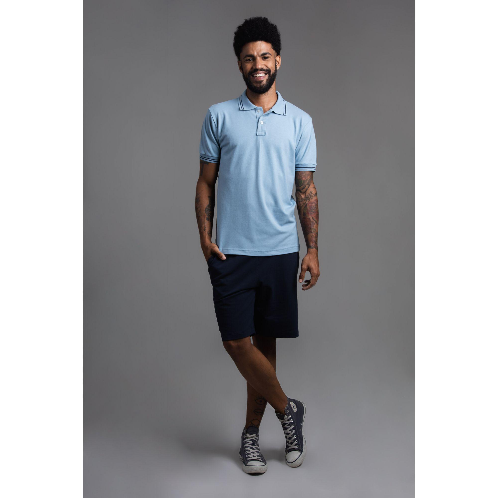 Camisa Masculina Manga Curta Gola Polo
