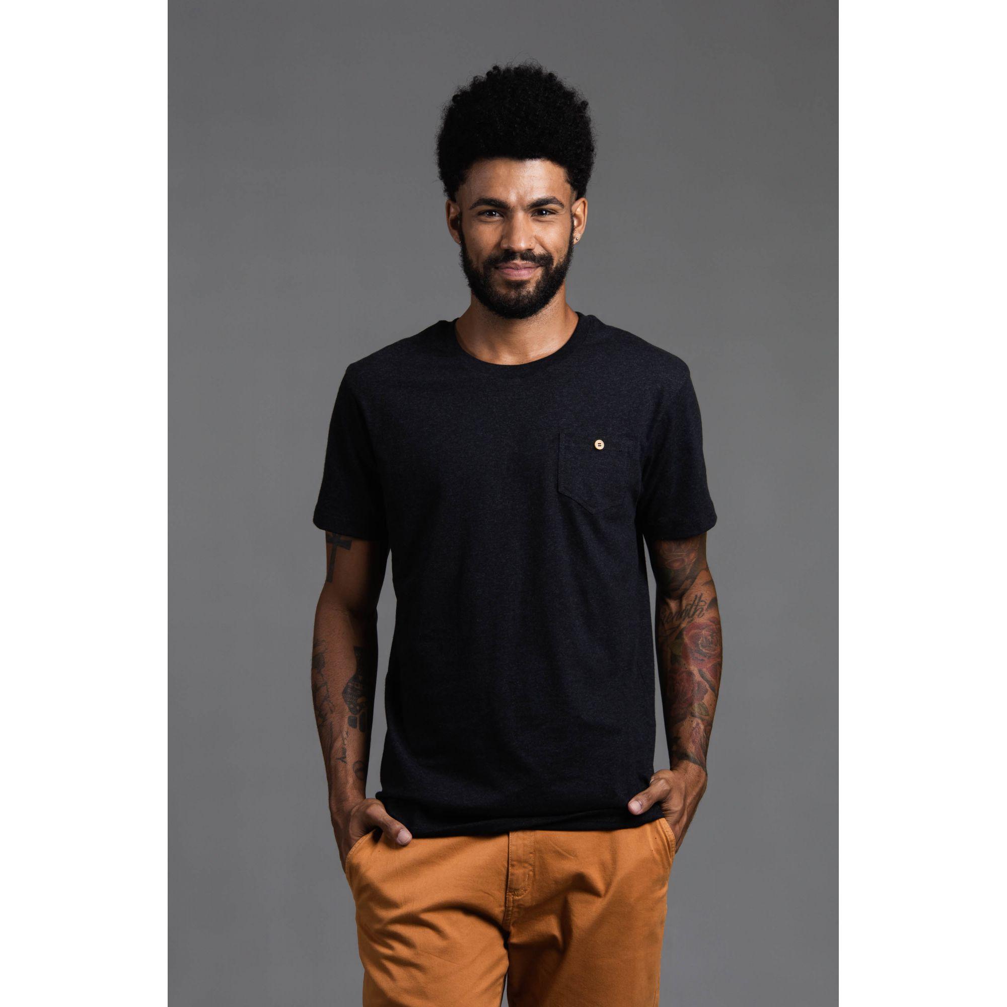Camisa Masculina Manga Curta Com  Bolso
