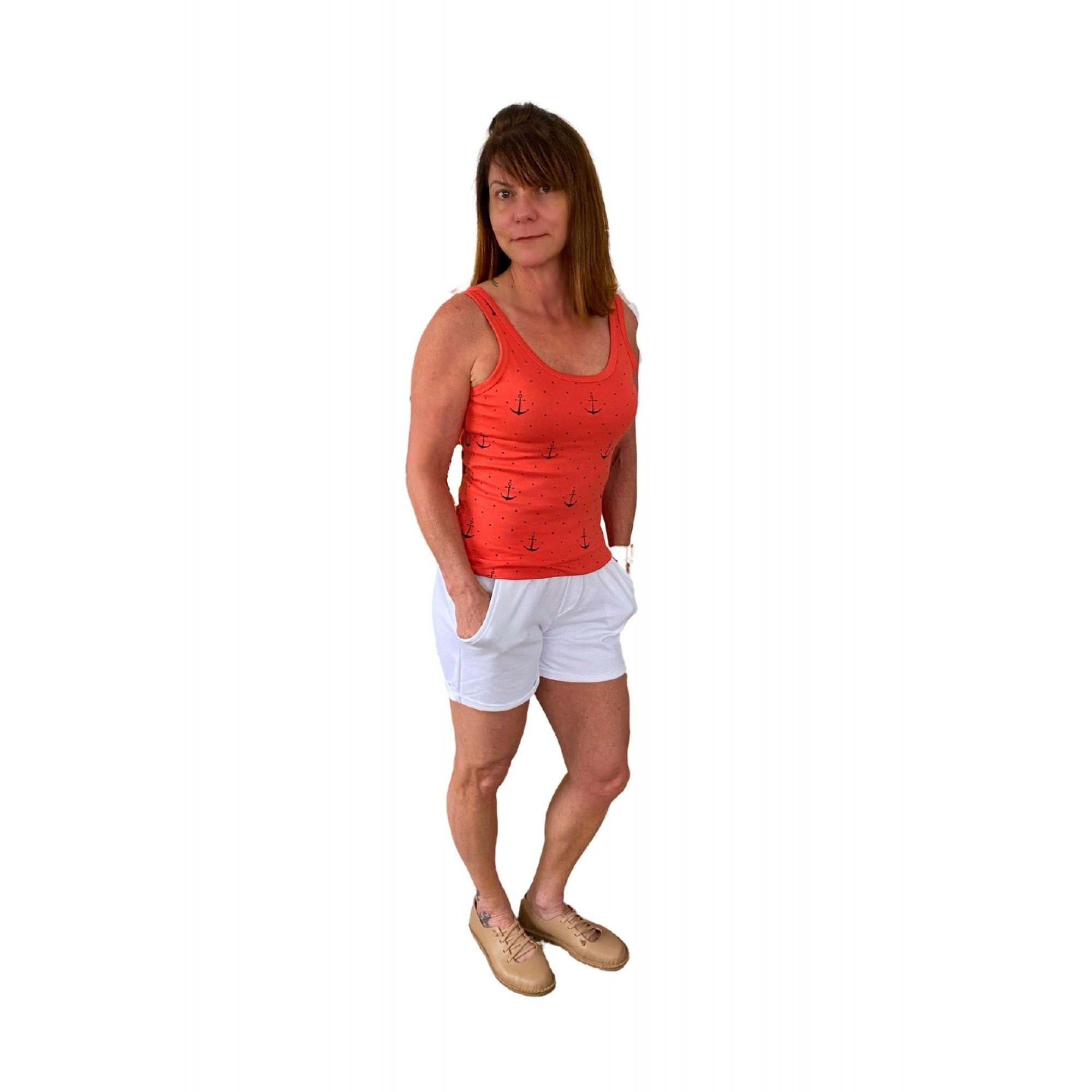 Camiseta Feminina Estampa Náutica